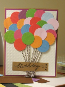 birthday card baloons