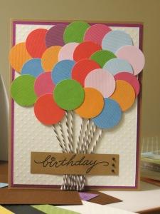 birthday card baloons