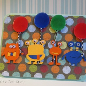 Goofy monster birthday card