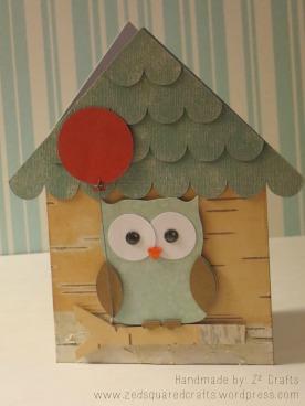Bird House Birthday Card